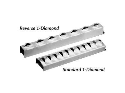 Diamond-Strut ladder rungs have two styles - standard and reverse.
